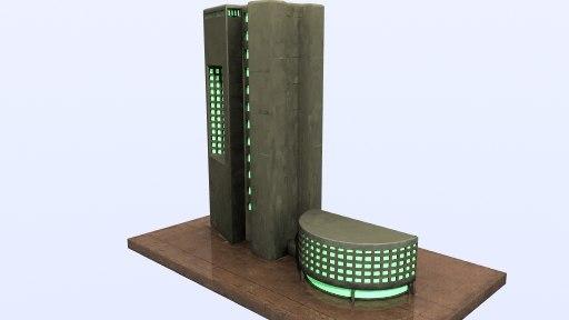 3d building bank model