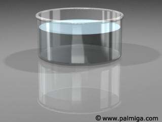 3d laboratory glass cup