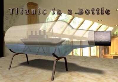 titanic bottle 3d model