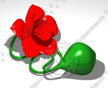 3d model 3dmf squirt flower