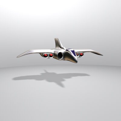 space jet 3d max
