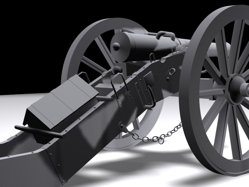 3d model napoleonic cannon