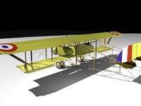 wwi bomber 3d model