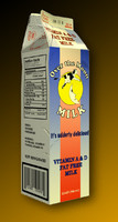 3d model carton milk zipped