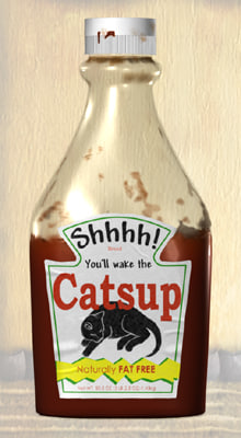 3d bottle ketchup