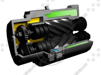 compressor rotation 3d 3ds