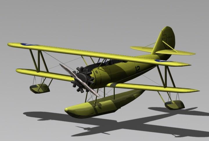 3ds max seaplane plane