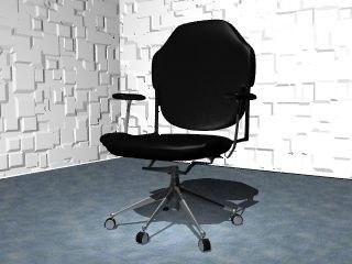 3d model ergonomic office chair