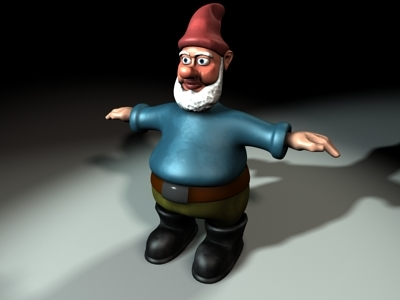 3d garden gnome character model