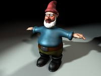 garden gnome character 3d model