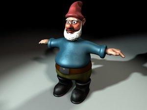 garden gnome character 3d model