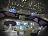 space shuttle flight deck 3d model