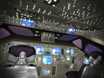 space shuttle flight deck 3d model