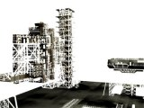 space shuttle launch tower 3d lwo
