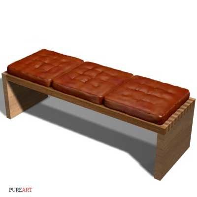 bench pillow 3d model