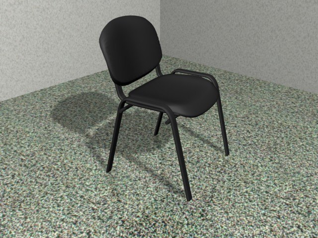 simple office chair. 3d Model Of Simple Office Chair