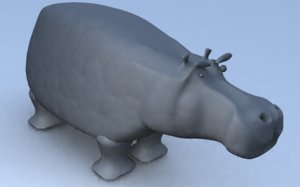 hippo character 3ds free