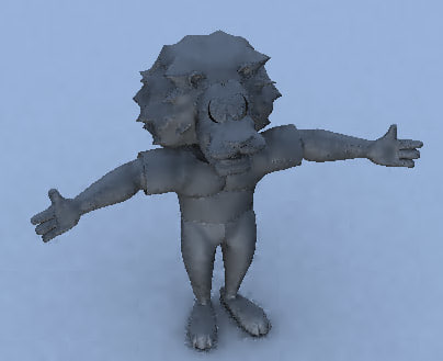 3dsmax cartoon character lion
