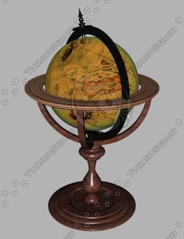 old globe 3d model