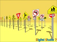 30 Road Sign Collection