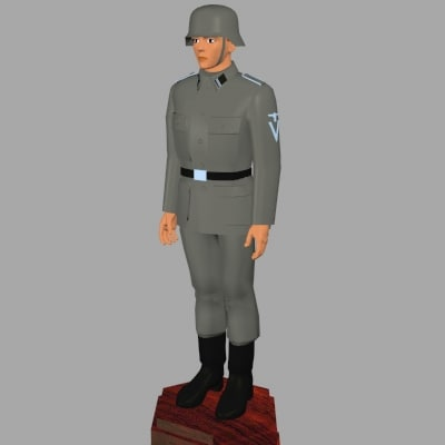 3d world war german model