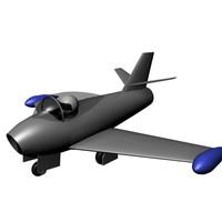 free c4d mode airplane jet