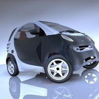 smart car vehicle 3d model