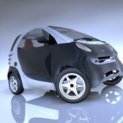 smart car vehicle 3d model