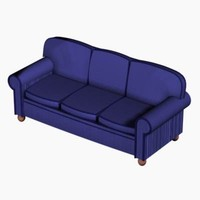 3d traditional carr sofa