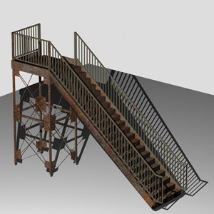 rusted 3d model