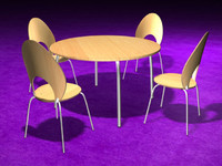 dining table chairs 3d model