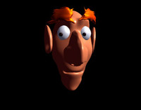 fun male character head 3d model