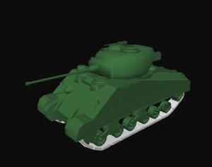 sherman tank 3d lwo