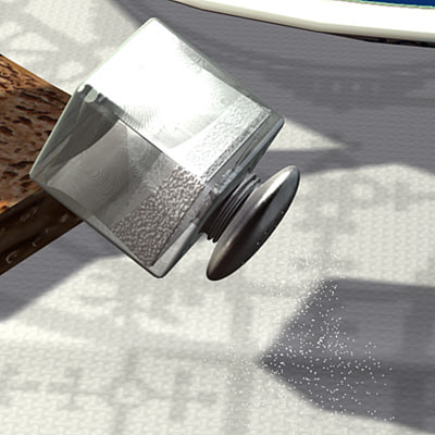 3d model saltshaker salt