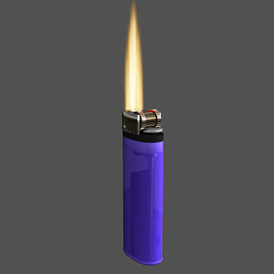 lighter flame 3d max