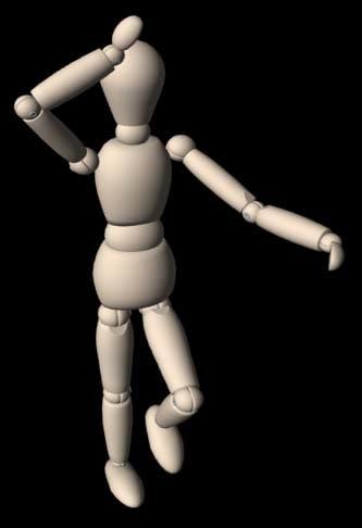 wooden mannequin 3d model