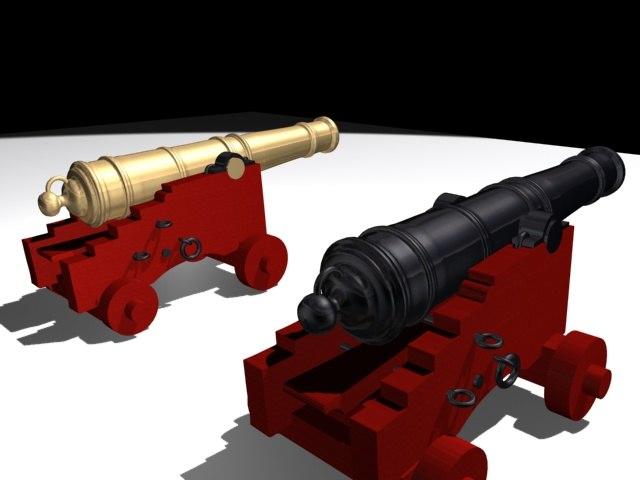 3d ship cannon