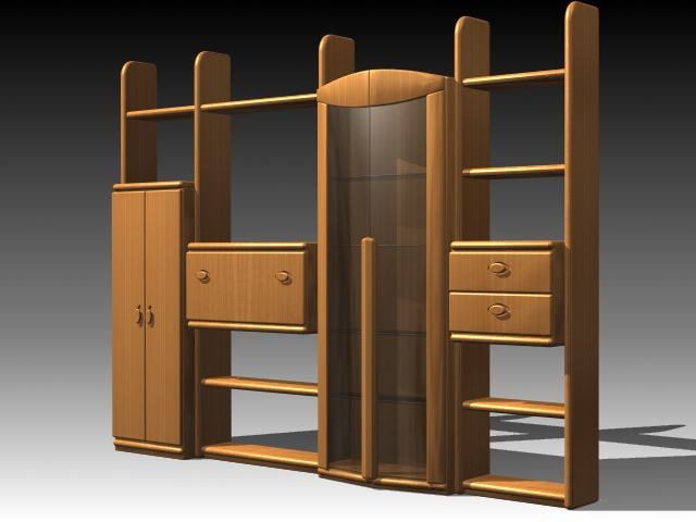3d furniture cabinet wardrobe model