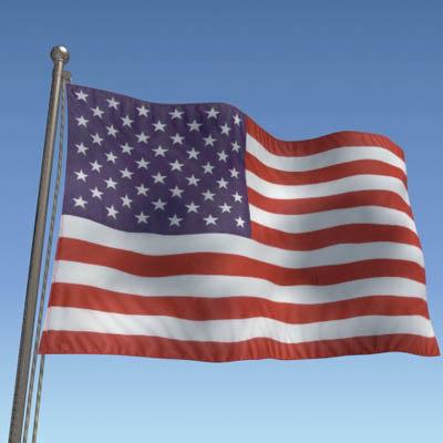 u s flag 3d model
