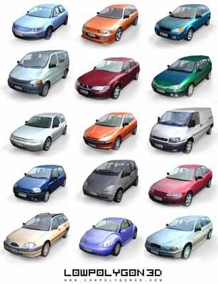cars reflections noise 3d model