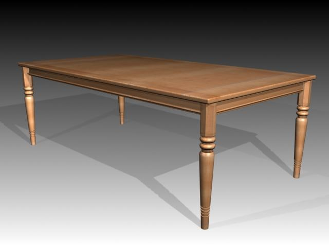 3d model of table furniture