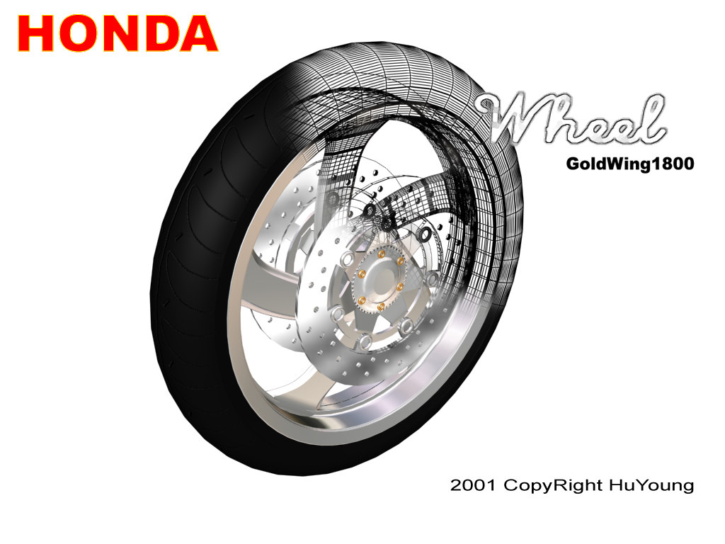 3ds max wheel goldwing1800