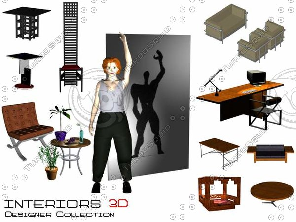 3d furniture seats chairs model