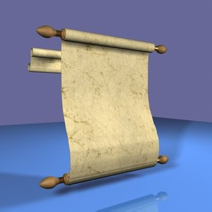 3d model midieval scroll