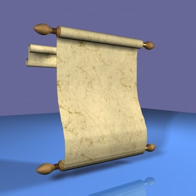 3d model midieval scroll