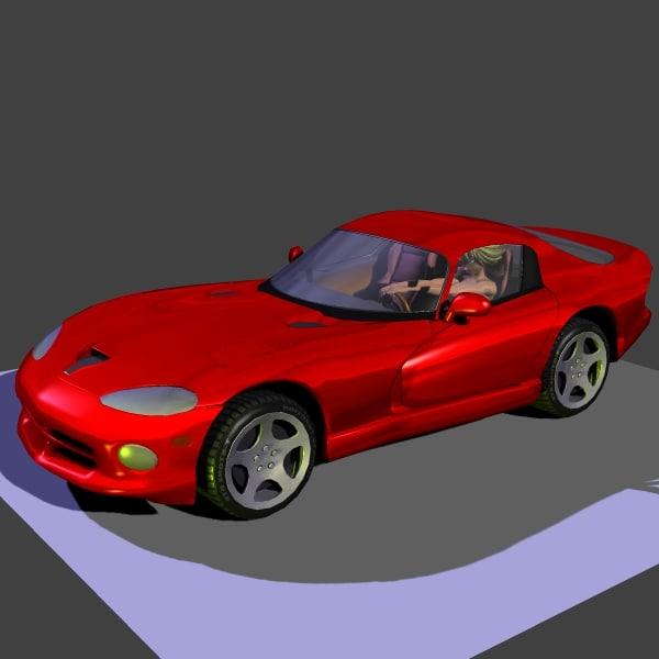 dodge viper 3d model