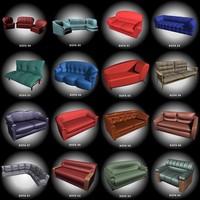sofas 3d 3ds