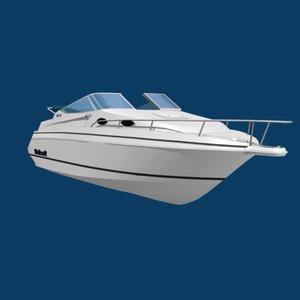 wellcraft speed boat 3d model
