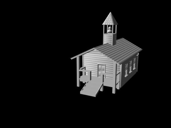 school house 3d model