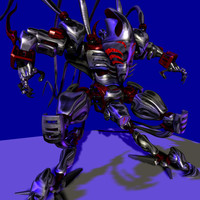 3d model robots anime